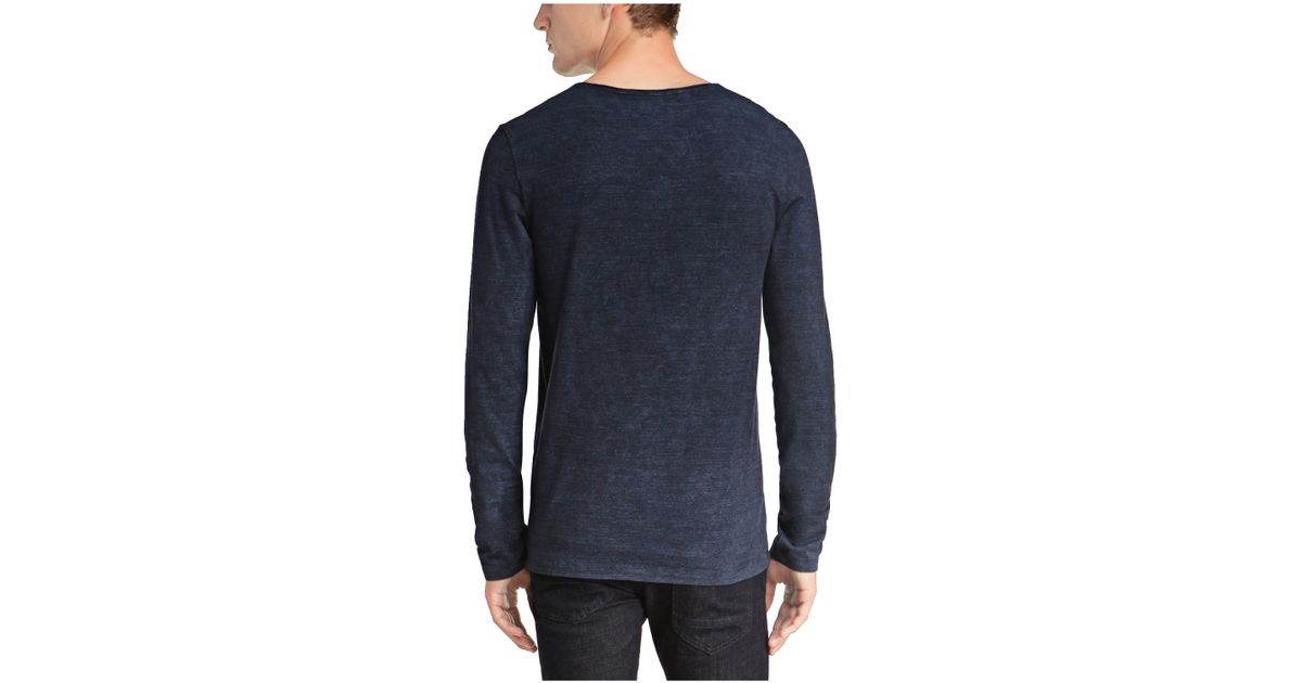 Boss Orange 39 Talbott 39 Cotton Melange V Neck T Shirt In