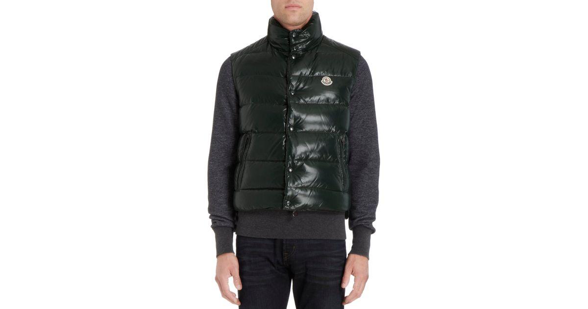 1d40bb9ab Lyst - Moncler Tib Down Vest in Green for Men