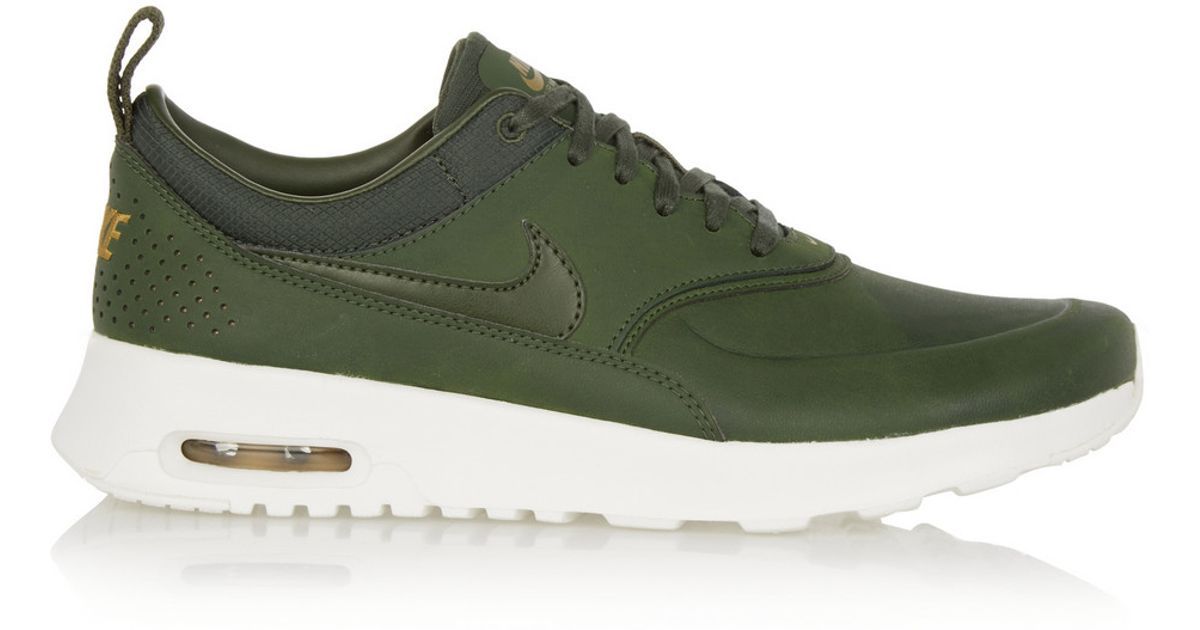 Nike Green Air Max Thea Premium Leather Sneakers