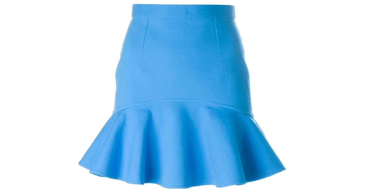 dsquared 178 peplum skirt in blue save 60 lyst