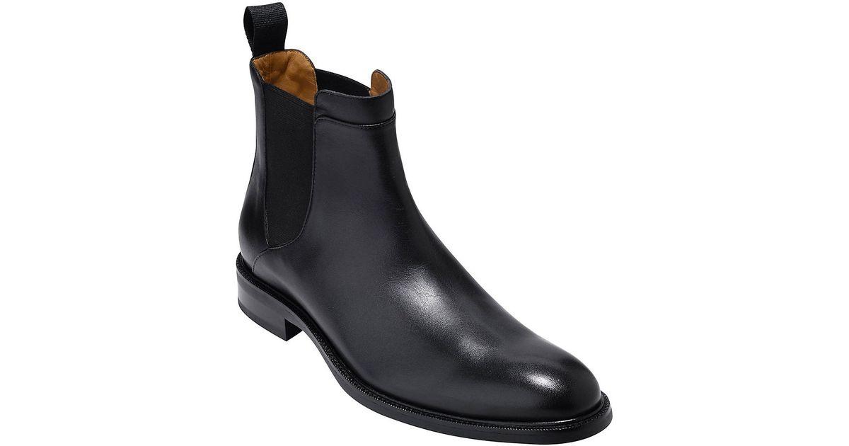 732e677da55 Cole Haan Black Warren Waterproof Leather Chelsea Boots for men