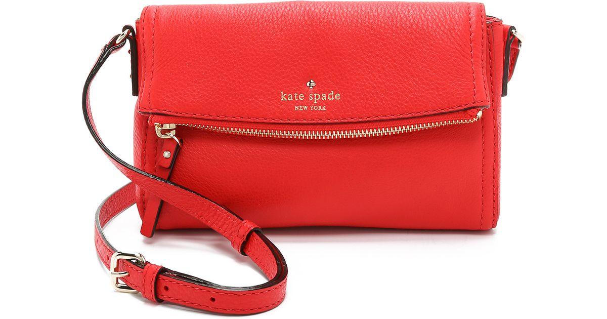 Lyst Kate Spade New York Mini Carson Cross Body Bag Cherry Liqueur In Red