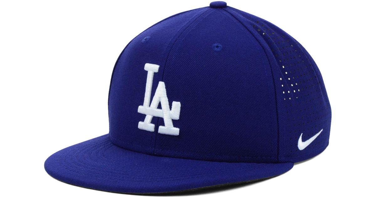 Lyst - Nike Los Angeles Dodgers Drifit Vapor Adjustable Cap in Blue for Men e340f6d4536