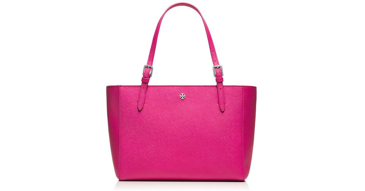c60b307d7166 Lyst - Tory Burch York Small Buckle Tote in Purple
