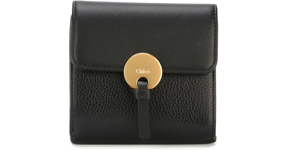 04f03396 Chloé Small 'indy' Wallet in Black - Lyst