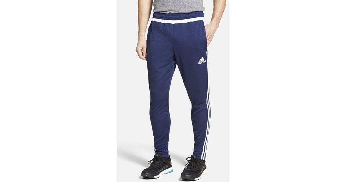 uk availability bf92f a889c Adidas Originals Blue 'tiro 15' Slim Fit Climacool Training Pants for men