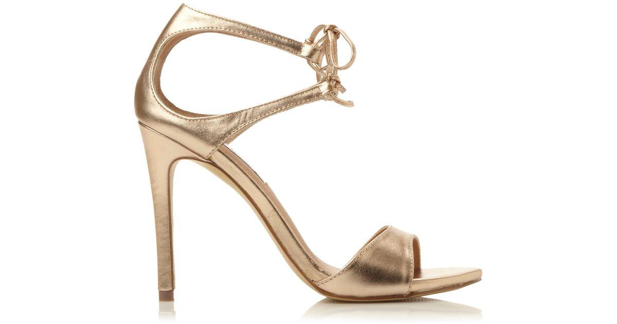 a90ac03afb66b Steve Madden Metallic Semona Lace Up High Heel Sandals