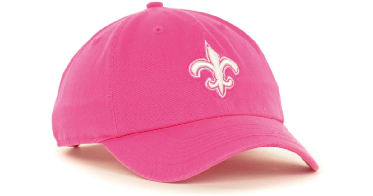 separation shoes d2747 78af0 47 Brand Women S New Orleans Saints Berry Clean Up Cap in Pink - Lyst