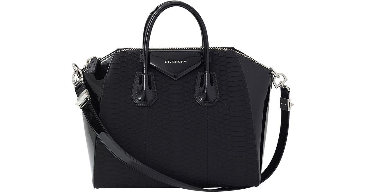 Lyst - Givenchy Medium Python Antigona in Black 4c56db967ecf2