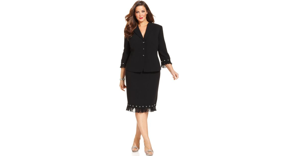 Tahari Plus Size Suits Ibovnathandedecker