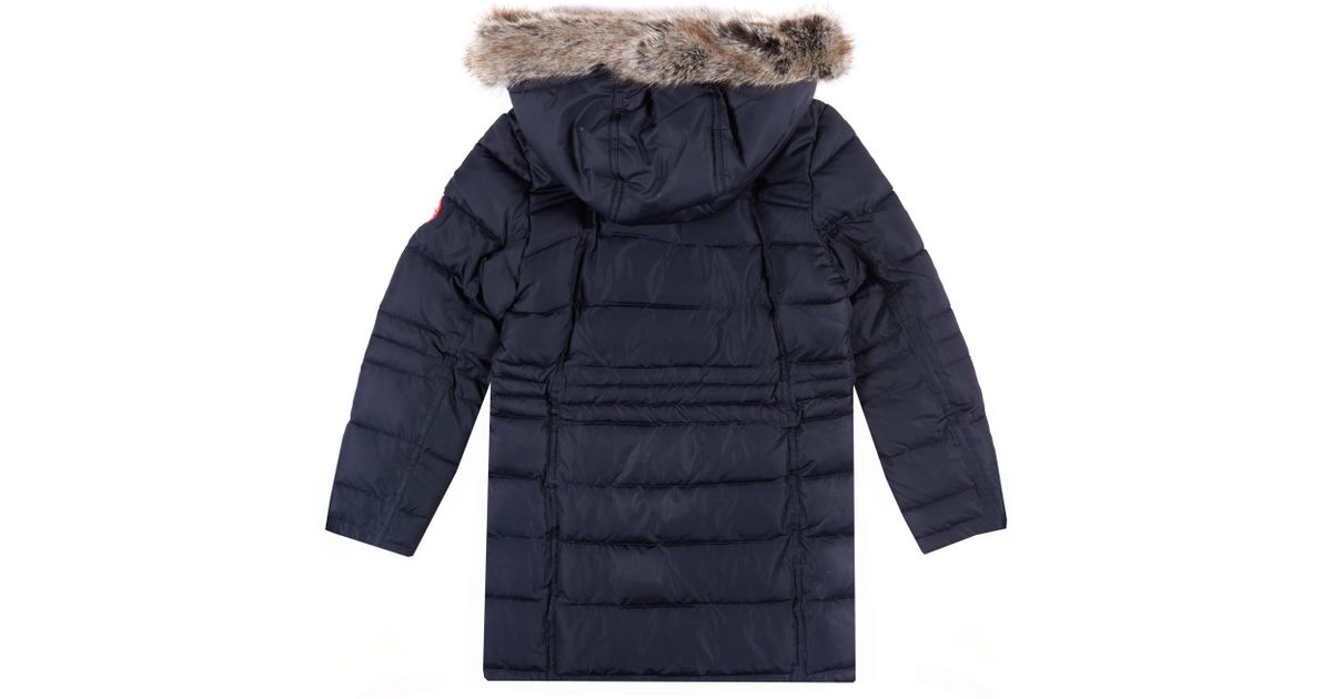 41854fd8aed27 Barbour Blue Girls' Landry Long Quilt Coat
