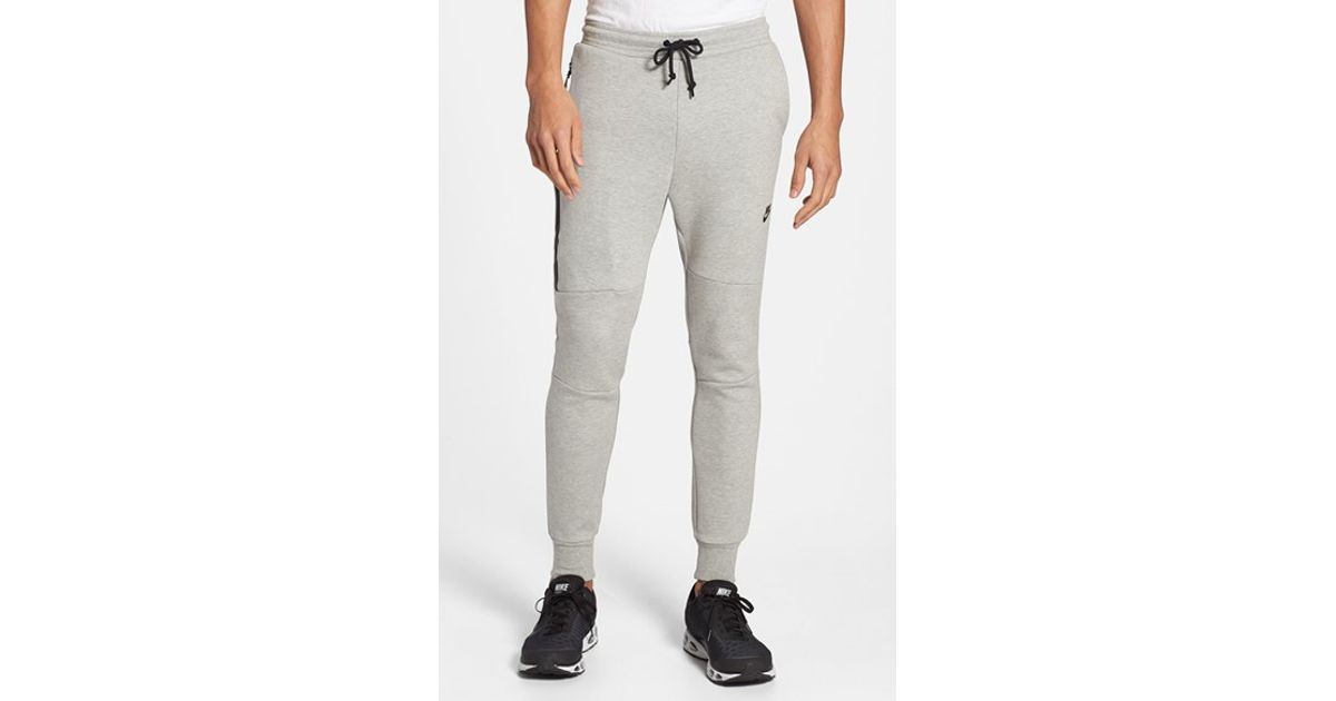 Elegant NIKE TECH FLEECE PANTS Tumbled Grey Amp Volt