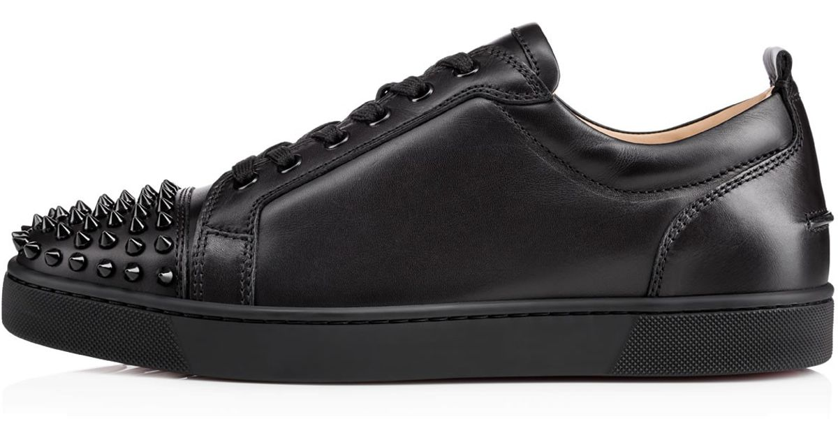 61956a06359 Lyst - Christian Louboutin Louis Junior Spikes Leather Sneakers in Black  for Men