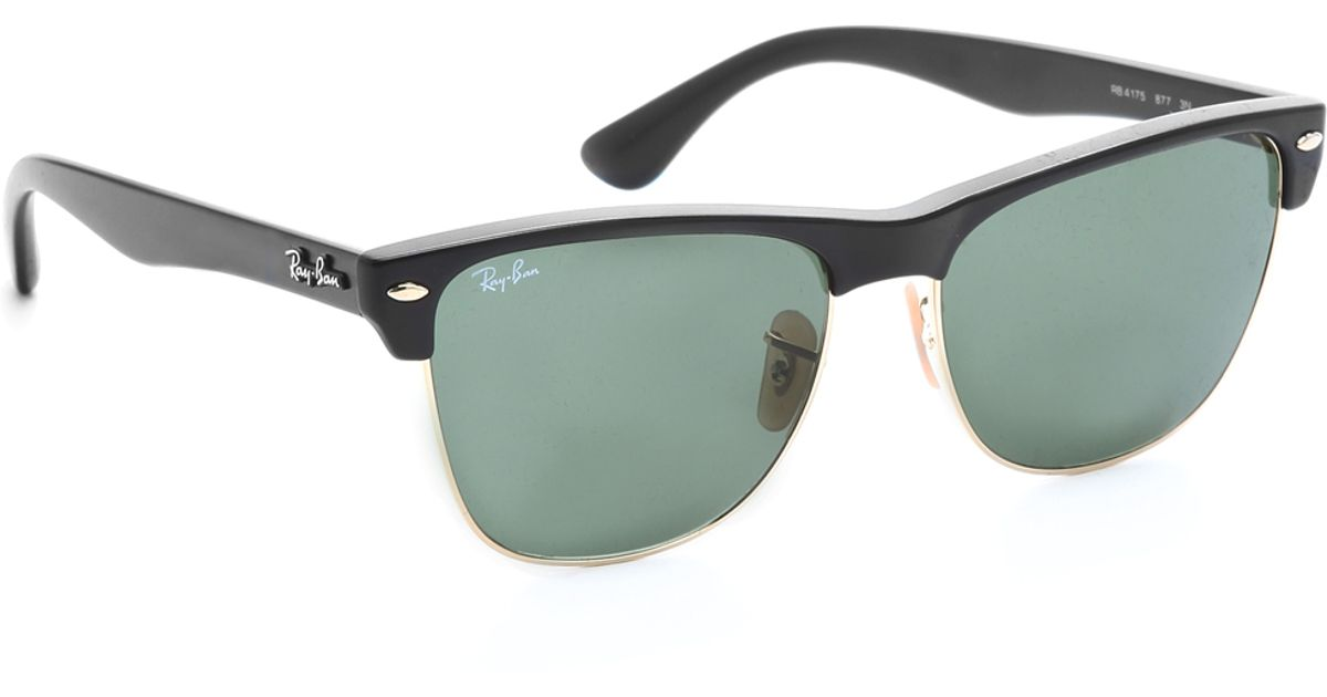 Ray-ban Oversized Clubmaster Sunglasses in Black (Black