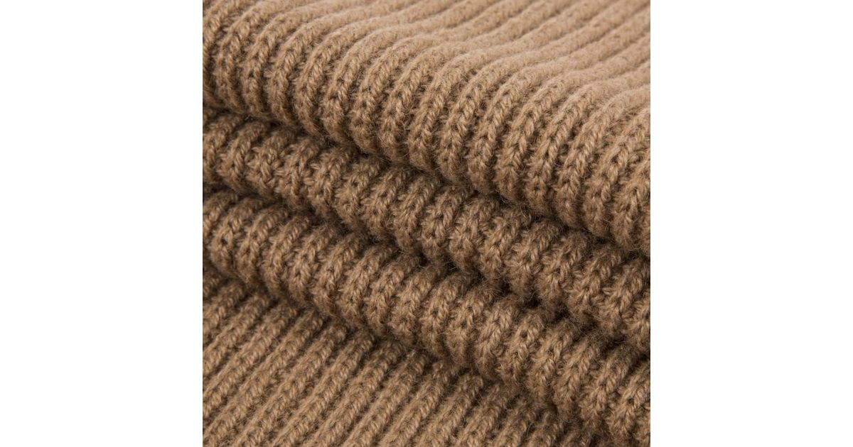 019e58fbf Paul Smith Tan Knitted Camel Hair Scarf in Brown for Men - Lyst