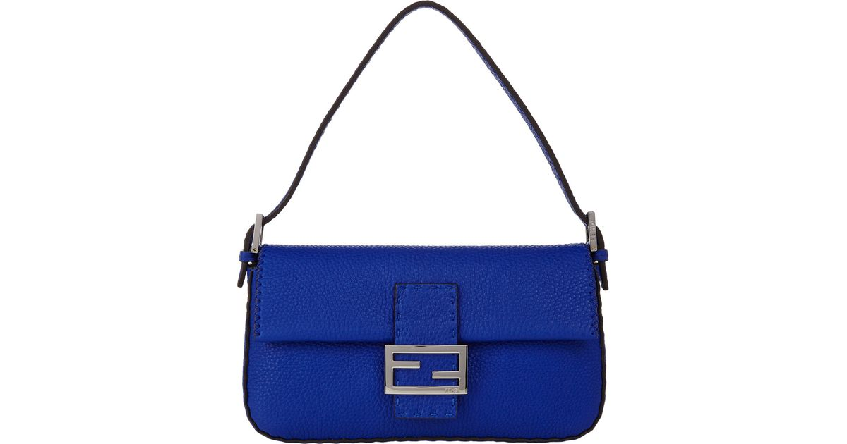 63b0df56a7 Lyst - Fendi Selleria Baguette Bag in Blue