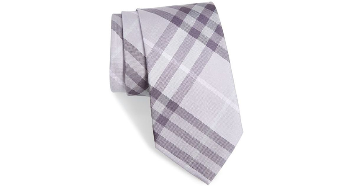 cadfee643f4c ... coupon code for lyst burberry clinton check silk tie purple in purple  for men e154a 098a6 ...