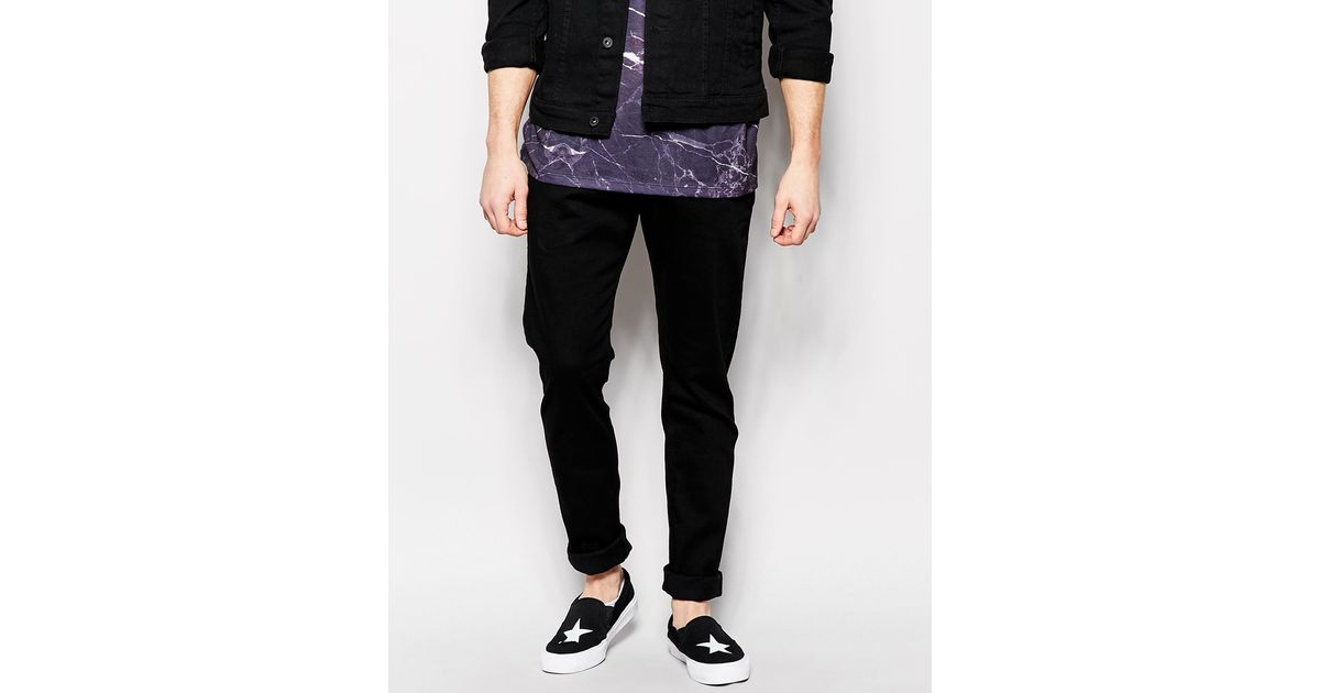 ce3bf28f DIESEL Jeans Tepphar 886z Slim Fit Black in Black for Men - Lyst