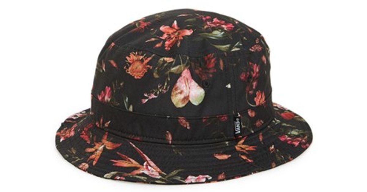 ... arriving 2281e 779e1 Lyst - Vans undertone Floral Print Bucket Hat in  Black for M ... 0871414ef55