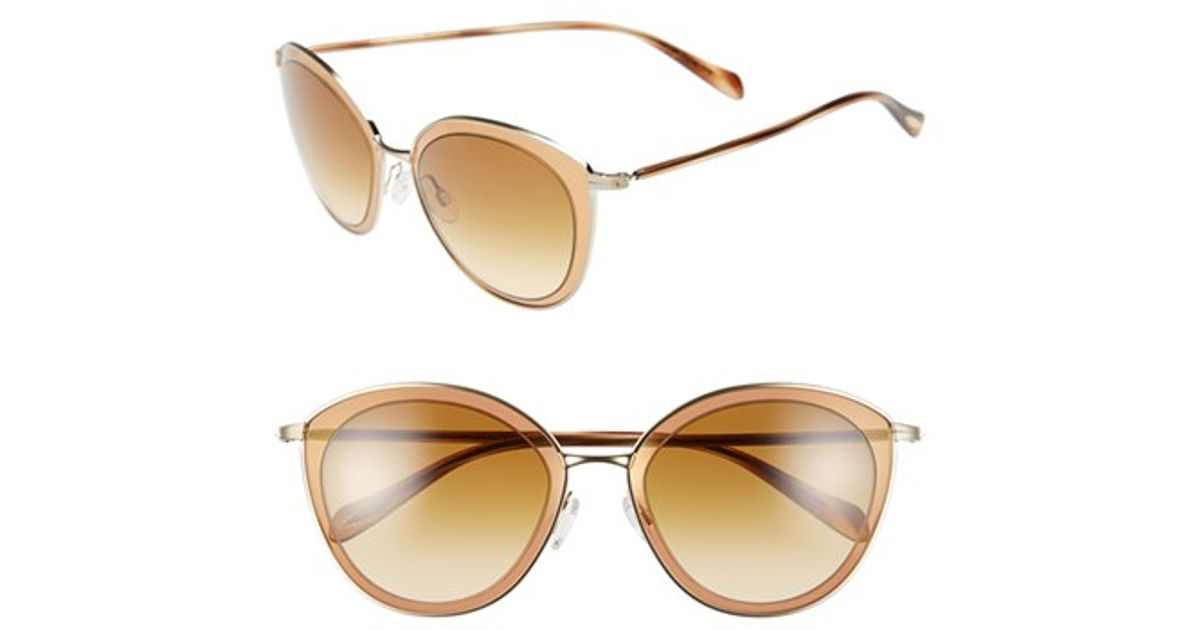 22bd76fb80 Lyst - Oliver Peoples  gwynne  62mm Retro Sunglasses in Metallic