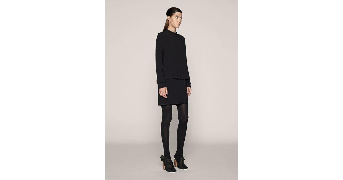 Proenza schouler Long Sleeve Shift Dress in Black - Lyst