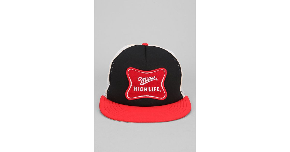 bced0667406 Lyst - Urban Outfitters Miller High Life Trucker Hat in Red for Men