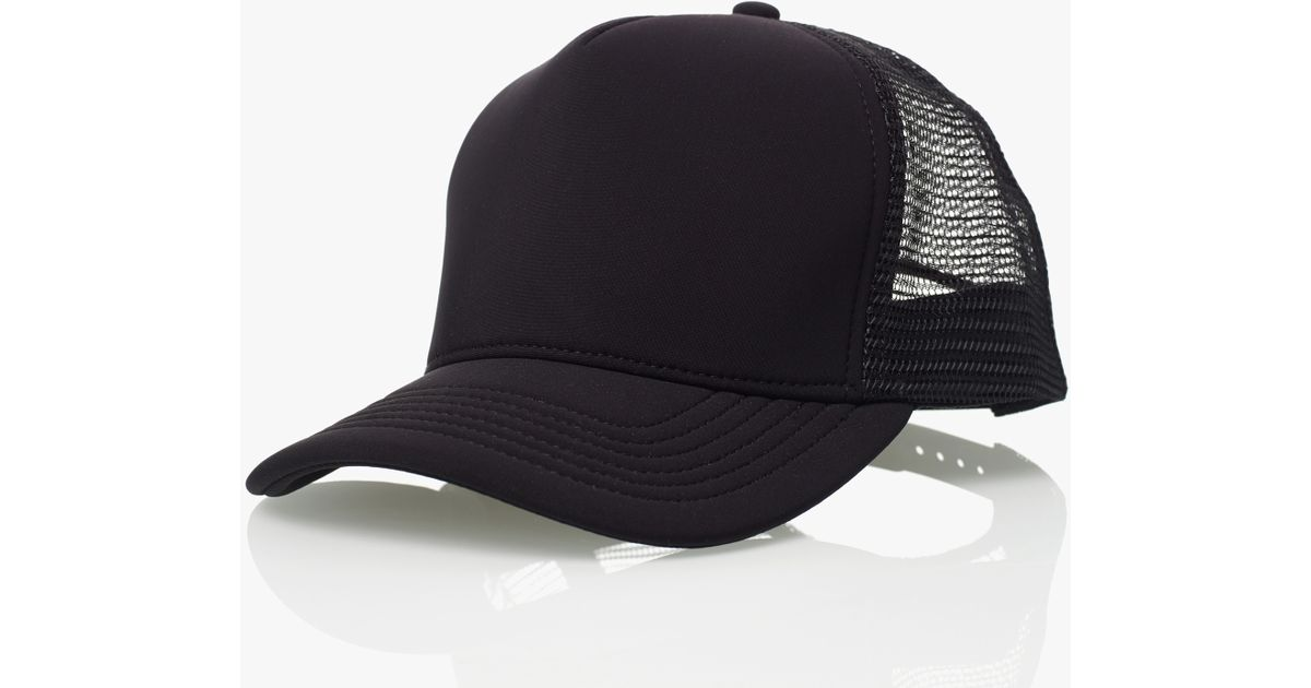 James Perse Scuba Trucker Hat In Black For Men 1d891c856cdc
