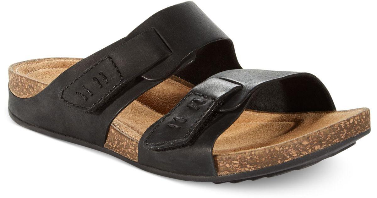 Clarks Footbed Black Artisan Perri Island Womens Sandals MVUSzp