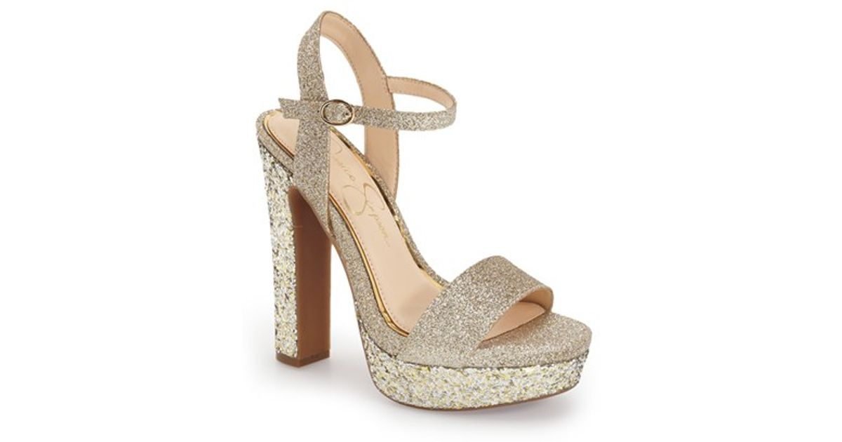 c6f3a66743cd7b Jessica Simpson - Metallic  blaney  Platform Sandal - Lyst