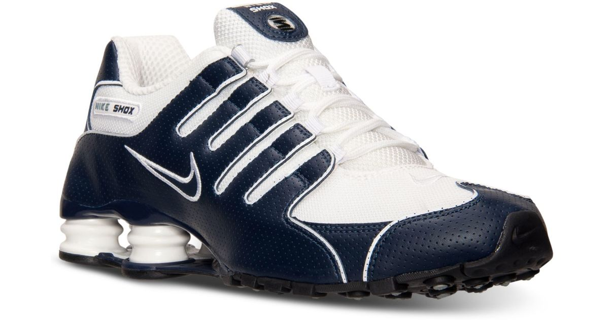 on sale cd0c3 db2dc Nike - Gray Men's Shox Nz Running Sneakers From Finish Line for Men - Lyst