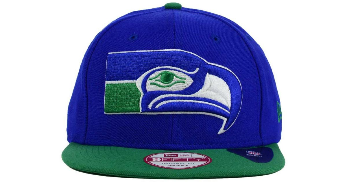 low priced 76a19 31145 KTZ Seattle Seahawks Classic Xl Logo 9fifty Snapback Cap in Green for Men -  Lyst