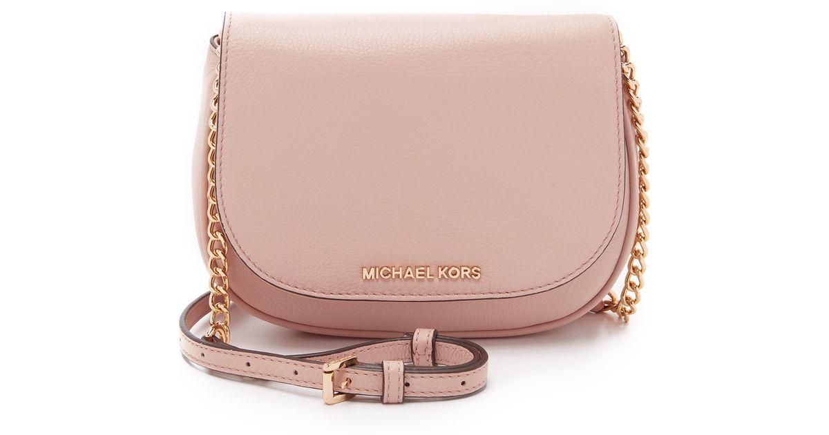 1feacba63e33d2 MICHAEL Michael Kors Bedford Small Cross Body Bag in Pink - Lyst