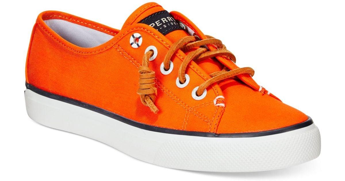 Seacoast Canvas Sneakers in Orange