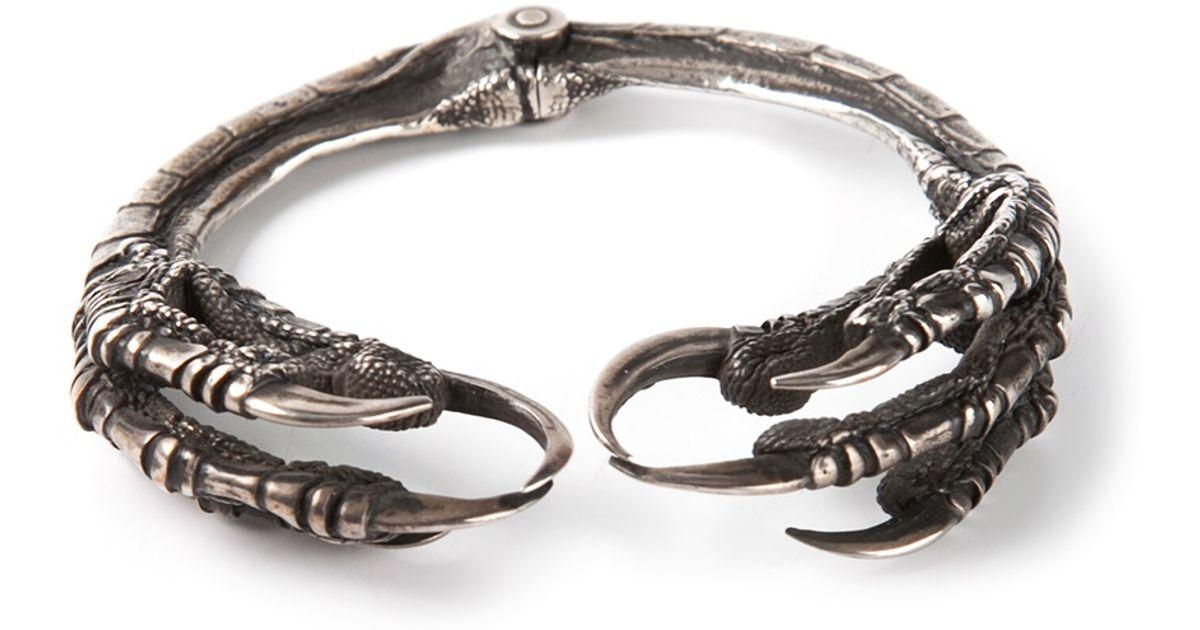 Ann Demeulemeester Gray Raven Claw Bracelet