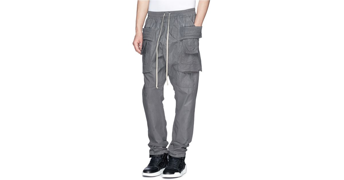 7cea128659a5 Lyst - DRKSHDW by Rick Owens  Creatch  Waxed Cotton Cargo Pants in Gray for  Men