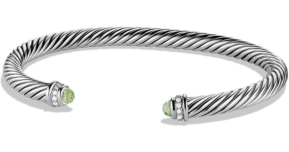Lyst David Yurman Cable Classics Bracelet With Prasiolite