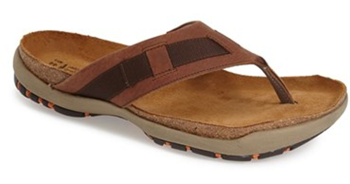 naot 39 panorama 39 flip flop in brown for men buffalo. Black Bedroom Furniture Sets. Home Design Ideas