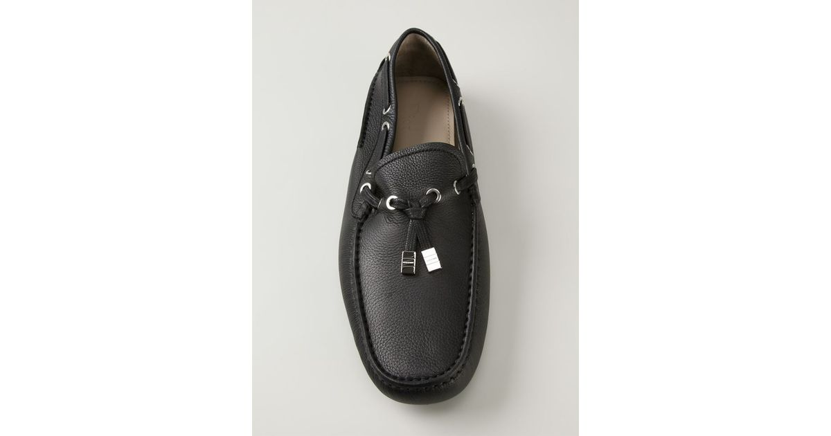 Dior Homme Square Toe Loafers in Black