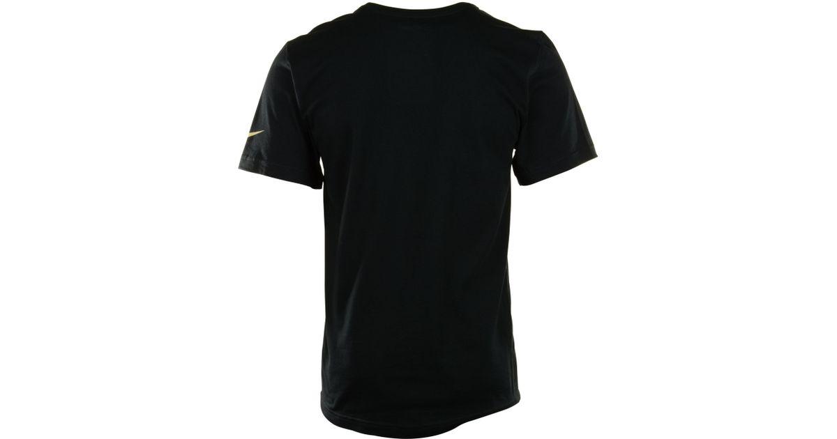 Nike Mens New Orleans Saints Logo Tshirt In Black For Men
