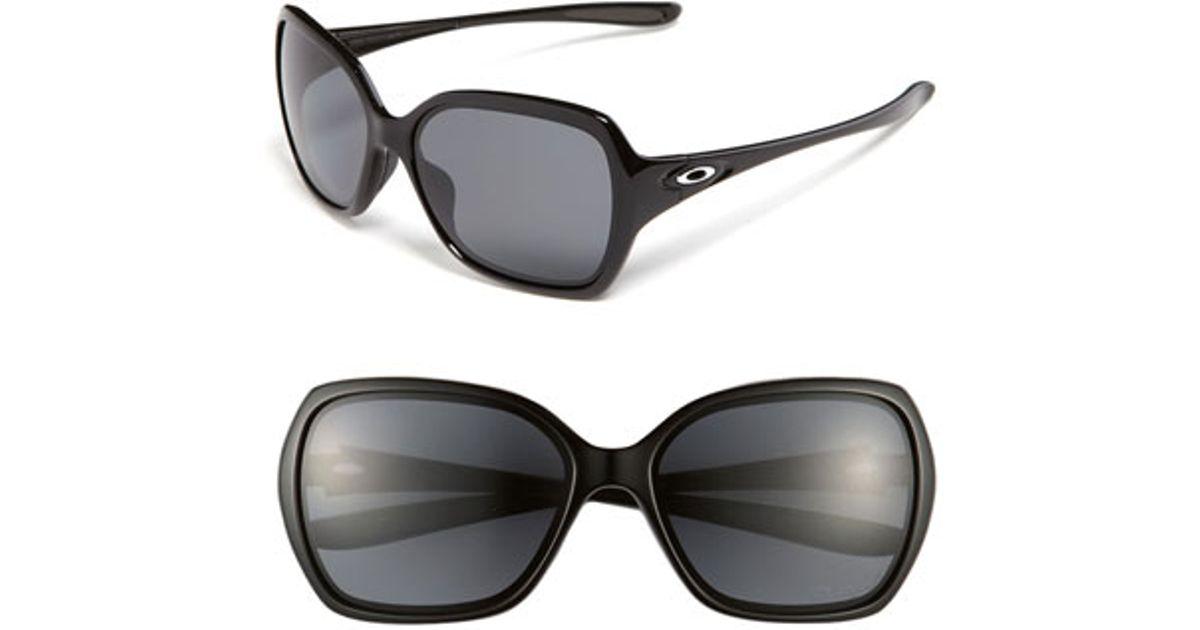 720357c6ea7 Lyst - Oakley  overtime(tm)  59mm Polarized Sunglasses - Polished Black   Grey Polarized in Black