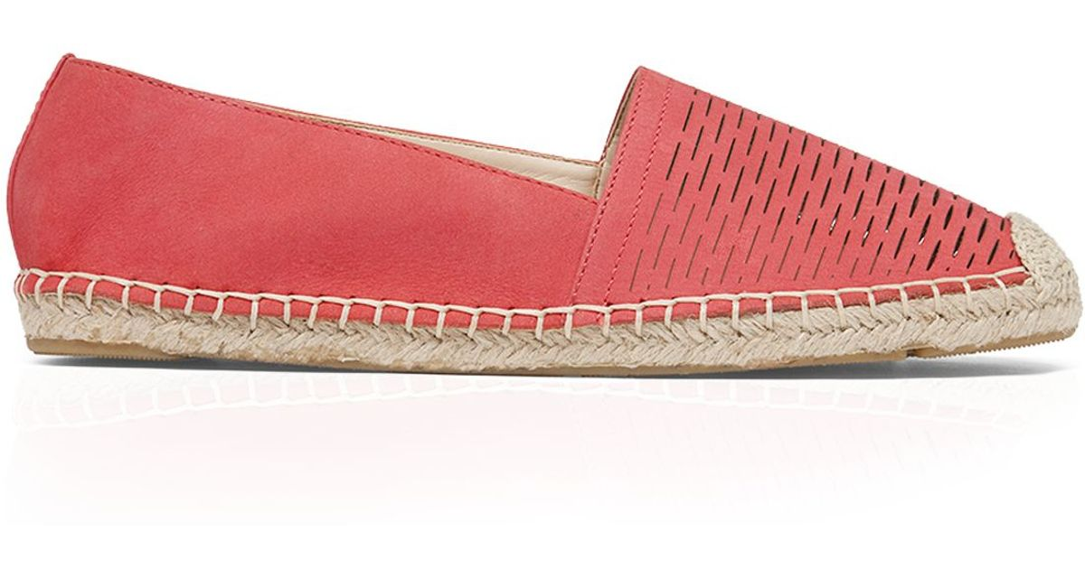 a768ac9b390 Lyst - Vince Camuto Espadrille Flats - Disti Perforated in Orange