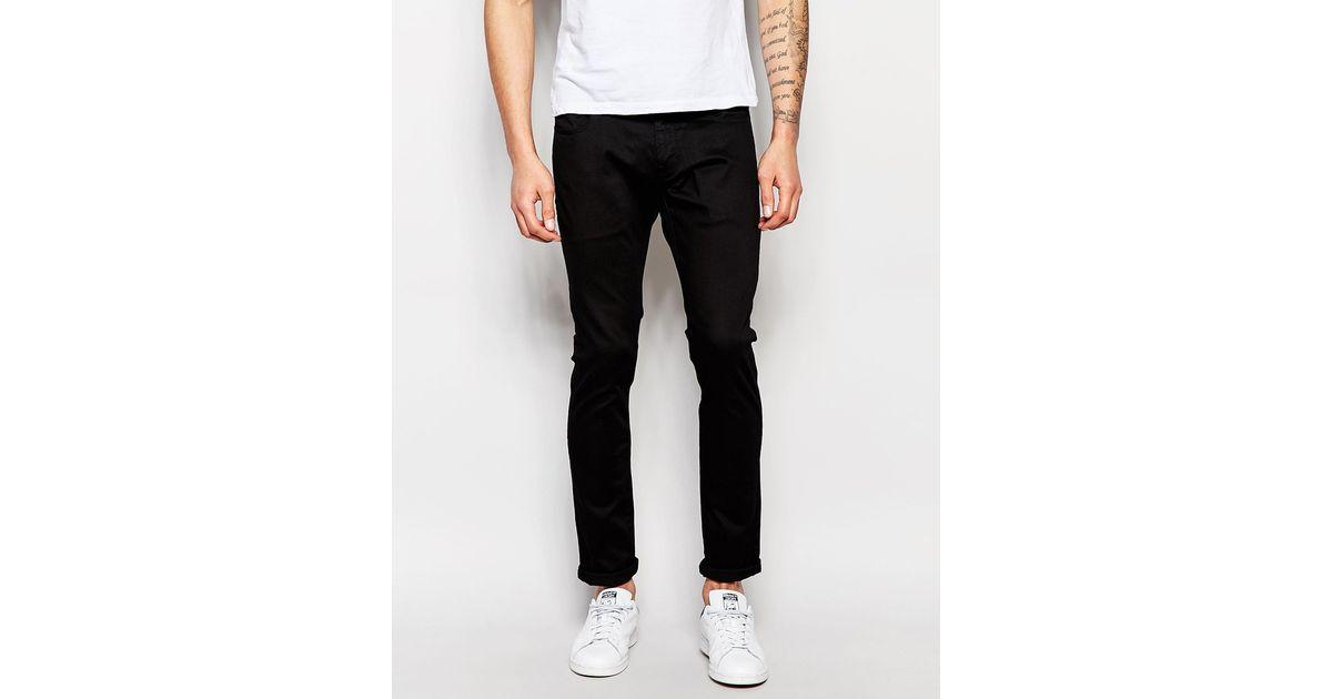 star raw jeans 3301 deconstructed super slim superstretch raw black. Black Bedroom Furniture Sets. Home Design Ideas