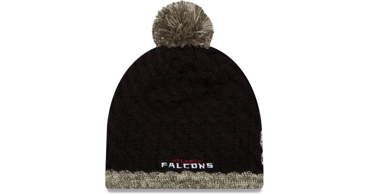 Lyst - Ktz Women s Atlanta Falcons Salute To Service Knit Hat in Black 453579bf12