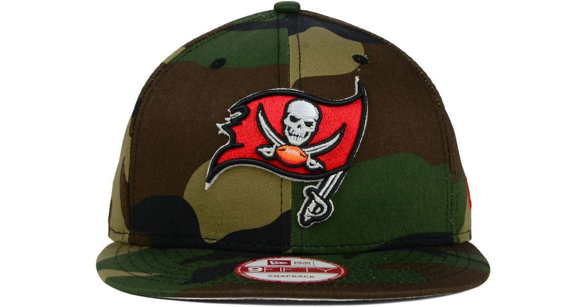 Lyst - KTZ Tampa Bay Buccaneers Woodland Camo Team Color 9Fifty Snapback  Cap in Green for Men 70e7916c622
