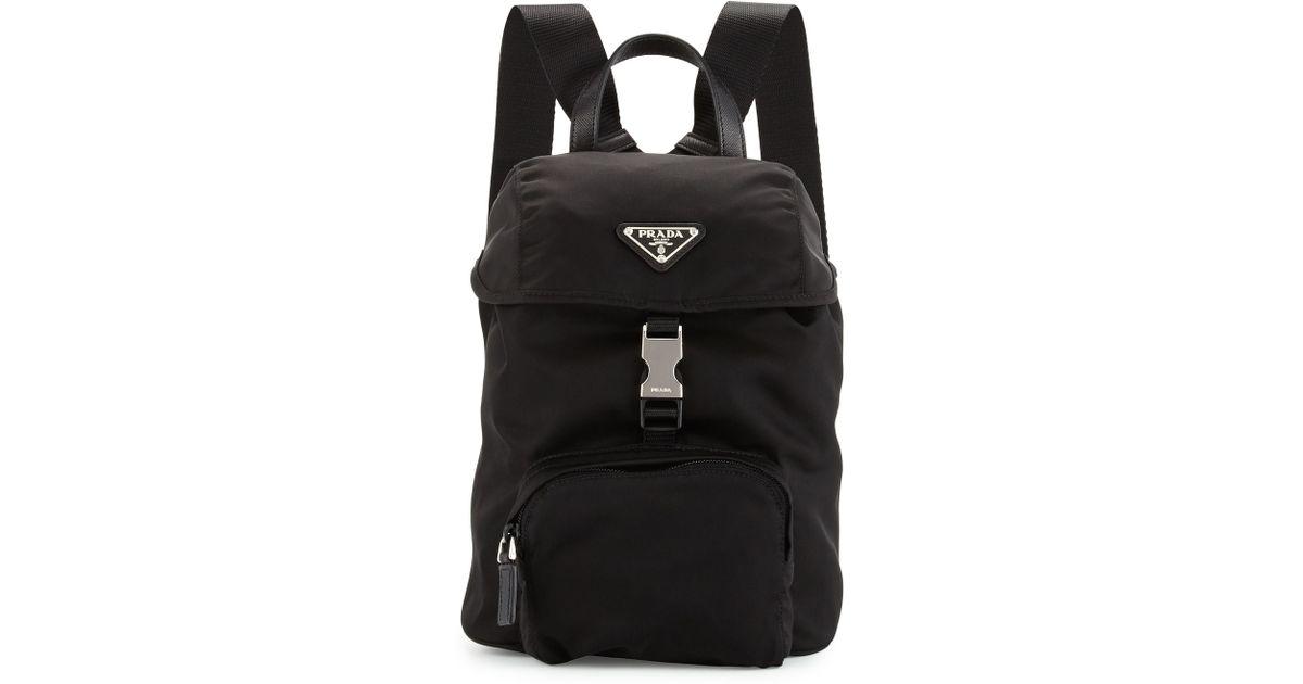 689fed099f50 prada nylon tote - Prada Vela Nylon Small Backpack in Black
