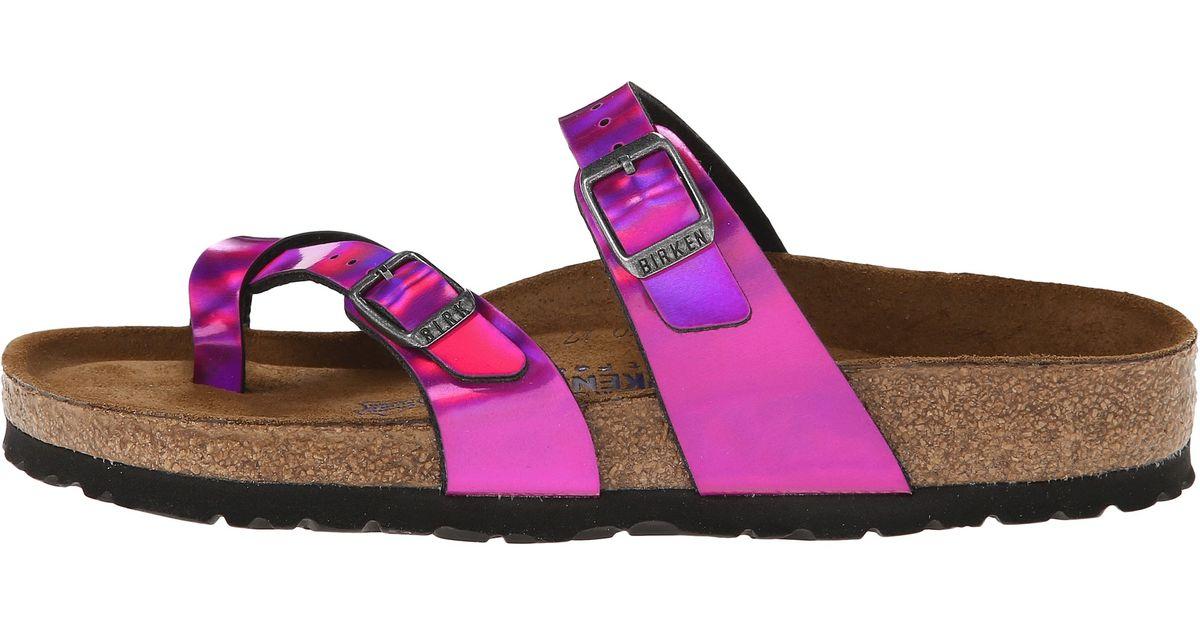 a69c6bb550d Lyst - Birkenstock Mayari Soft Footbed in Pink