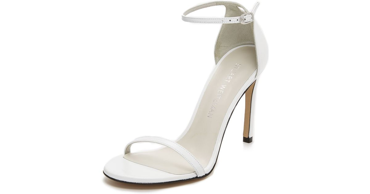 b418ee016f0a Lyst - Stuart Weitzman Nudistsong Sandals in White