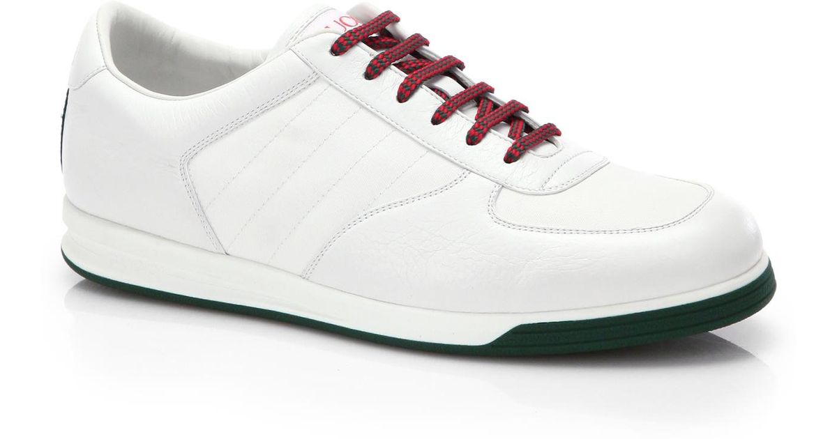 Gucci 1984 Leather Anniversary Sneakers In White For Men
