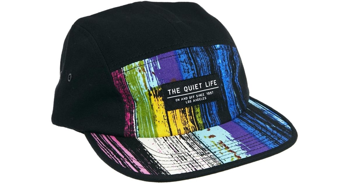 76d4f3a69 Lyst - The Quiet Life Paint 5 Panel Cap in Black for Men