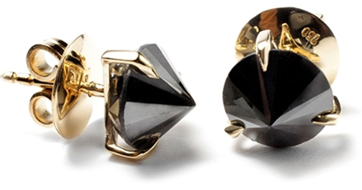58ab37658 Ara Vartanian Inverted Black Diamond Earrings in Black - Lyst